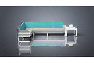 rendering of couch sectional furniture