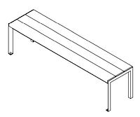 line drawing of a bench