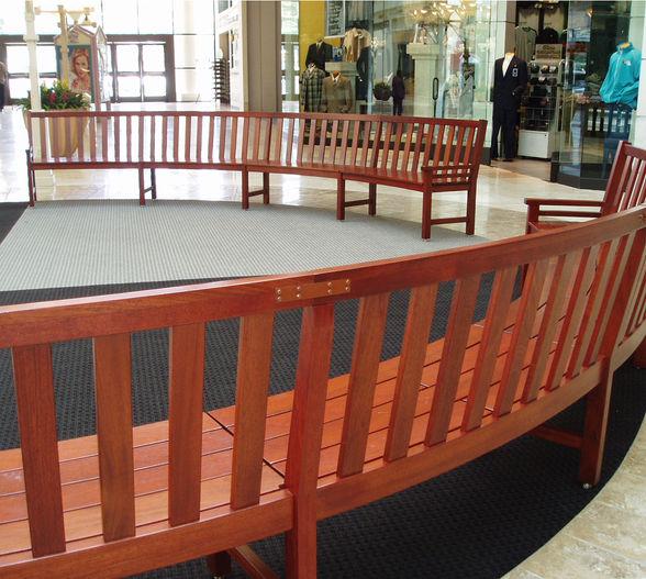 Premier Radial wood bench