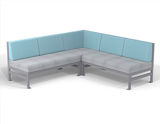 rendering of sectional couch seating white background