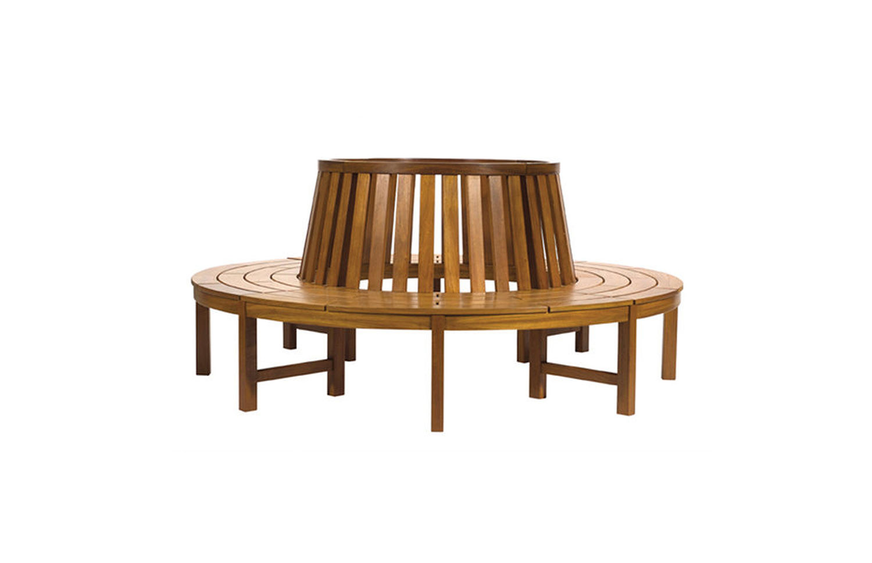 Premier Radial wood bench full circle