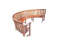 thumbnail of half-circular wooden bench