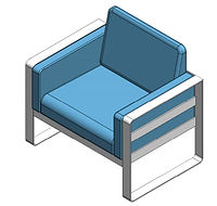 line drawing of lounge chair
