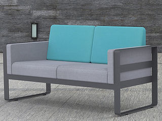 rendering of couch loveseat furniture