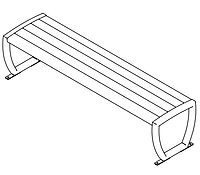 line drawing of bench