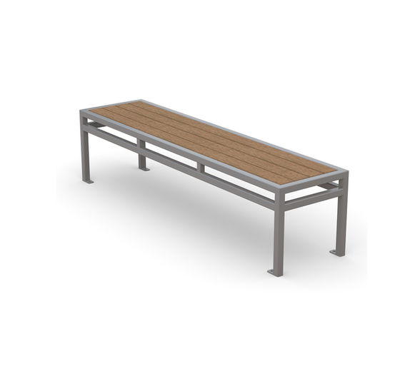 San Antonio Backless Bench in wood