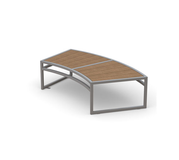 San Antonio Curved Bench in wood