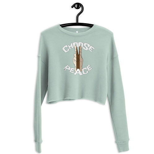 Sunshine Trading Co. - Choose Peace - Crop Sweatshirt