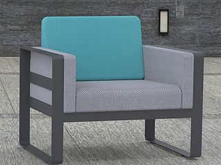 rendering of couch lounge chair furniture