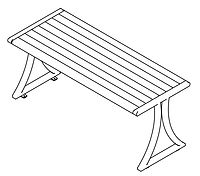 line drawing of wood dining table