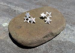 Triple Star Earrings
