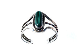 Sterling Silver Malachite Bangle