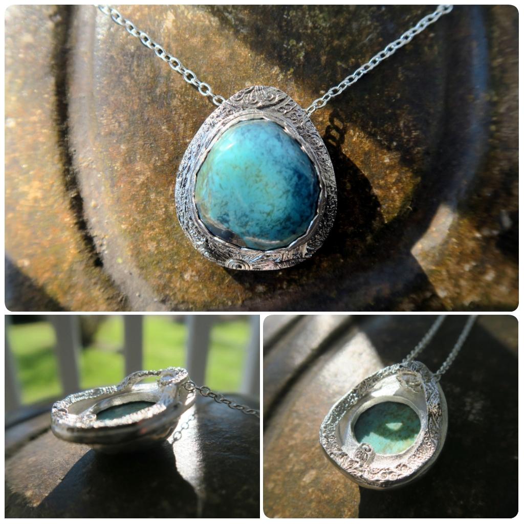 Fine Silver Kingman Turquoise Nck