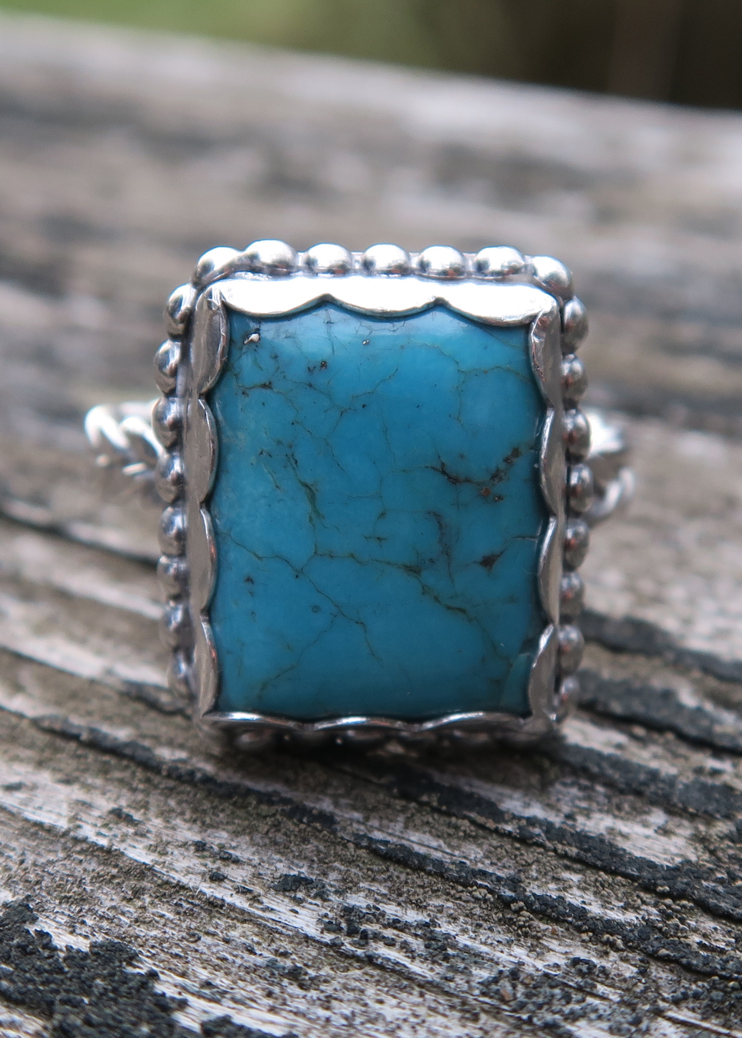 Sterling Turquoise Braided Ring