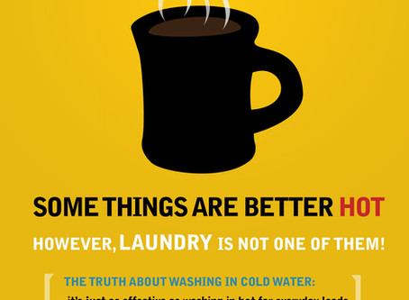 Switch your default from hot to cold water when doing laundry