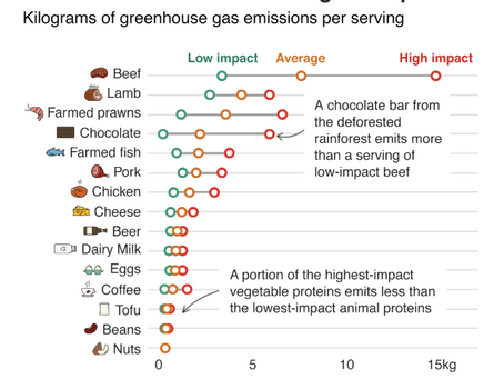 Know the carbon footprint of your favorite foods