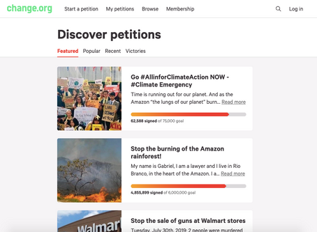 Sign an environmental petition