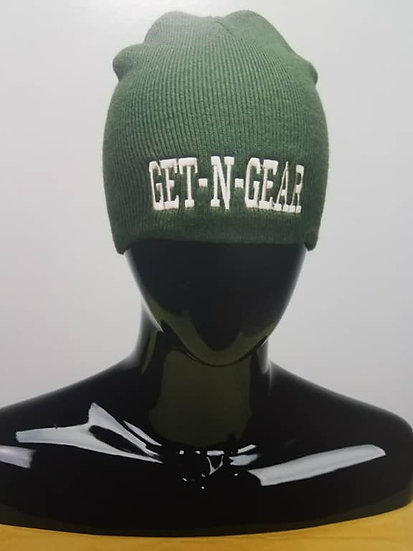 GNG Beanie Navy Green/Cream