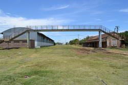 Rail tracks adjacent to Nuevo Alberd