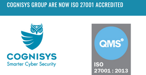 ANNOUNCEMENT - Cognisys Group is now ISO27001 accredited