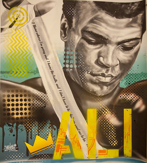 Ali Reflection - 1 of 1 embellished limited print