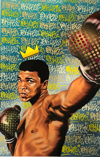 SOLD   Ali Hand embellished print - Tagged