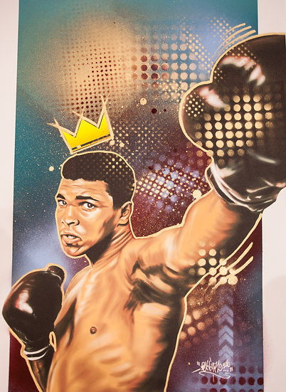 ALI Hand Embellished print - Illuminous SOLD