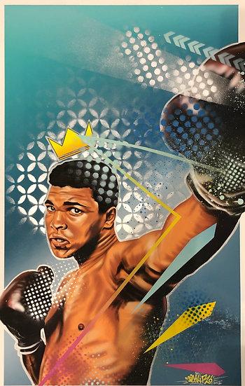 SOLD    Ali Hand embellished print - Motion Capture