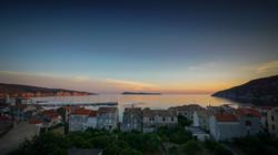 Sunset in Komiza, Croatia