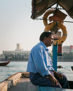 Abra driver on the Dubai River