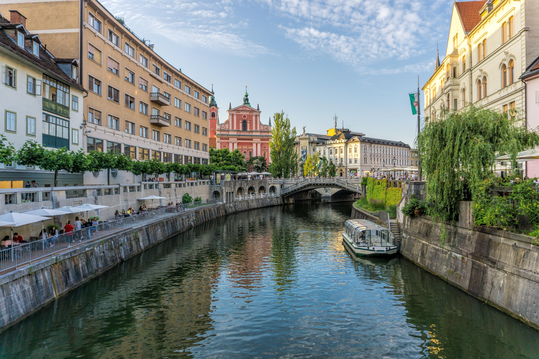 Ljubljana, Slovenia canal