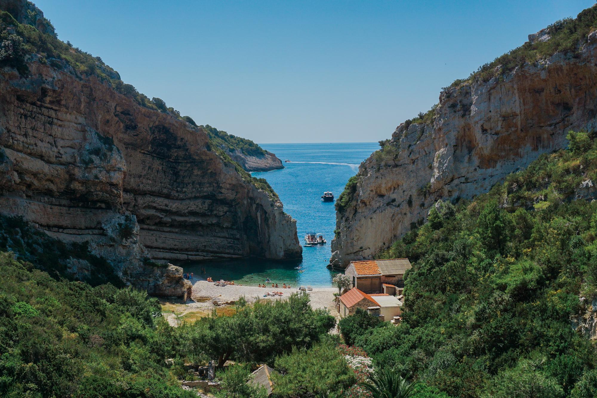 Stivinia Beach Vis Island, Croatia