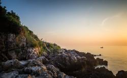 Rocky Sunset in Rovinj, Croatia