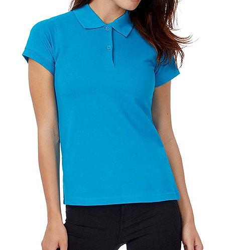 Basic Poloshirt Damen - B&C Polo Safran Pure