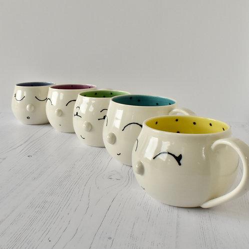 Porcelain Face Mugs