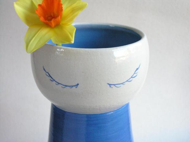 Blue Lady Vase
