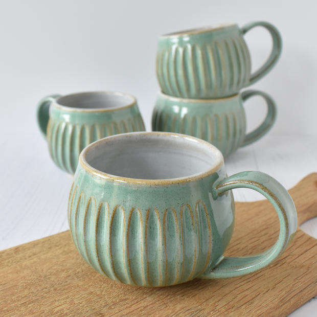 Green Fluted Mug.jpeg