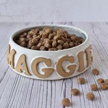 Dog bowl, matt white