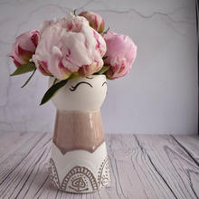 Porcelain Dusky Pink vase