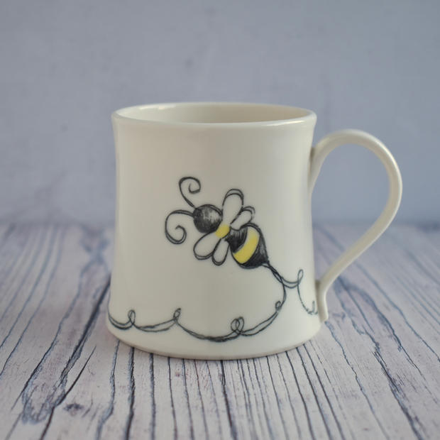 Porcelain Bumble Bee mug