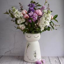 Porcelain Bumble Bee vase, large