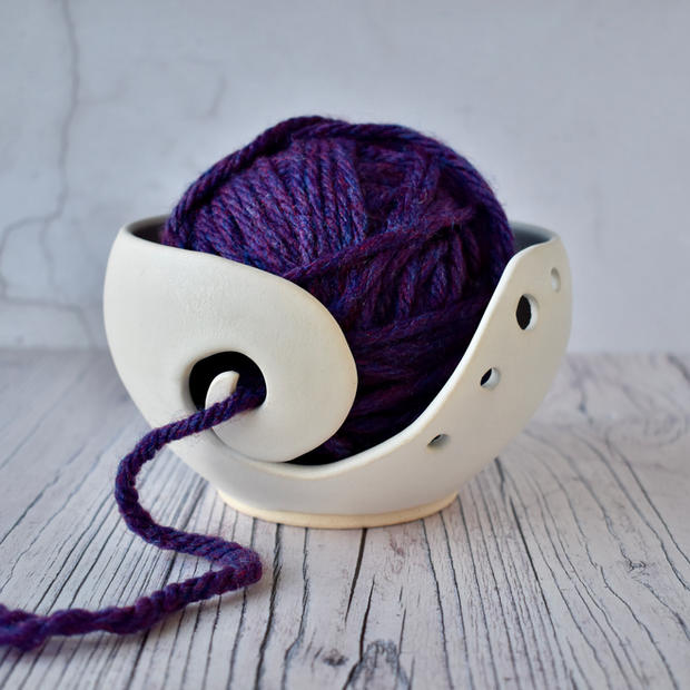 Yarn bowl, matt white