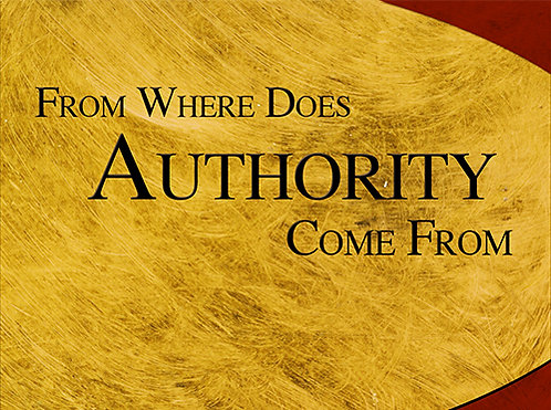From Where Does Authority Come From - CD