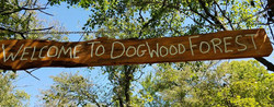 Photo of the Dogwood Forest sign.