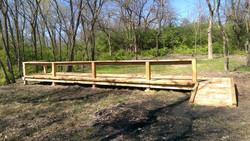 A photo of the new archery platform.