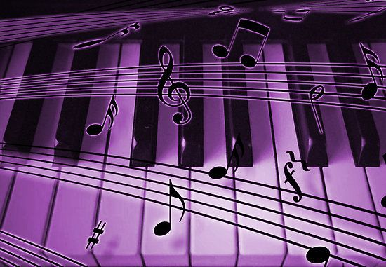 Purple Musical Notes