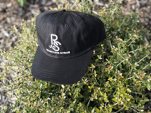 Black Relentless Strive Logo Adjustable Cap