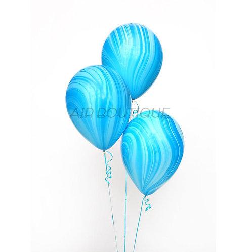 Воздушные шары-агат (голубой)
