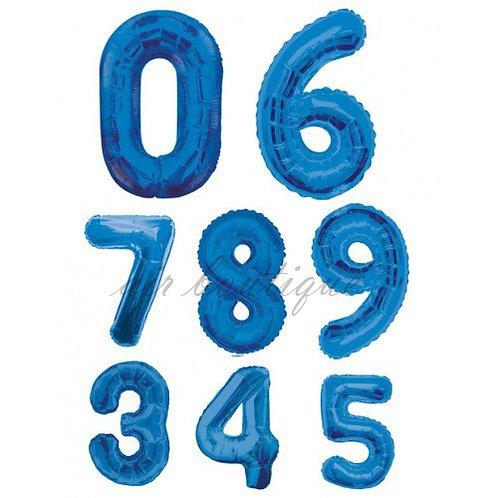 Воздушные шары Цифры Синий