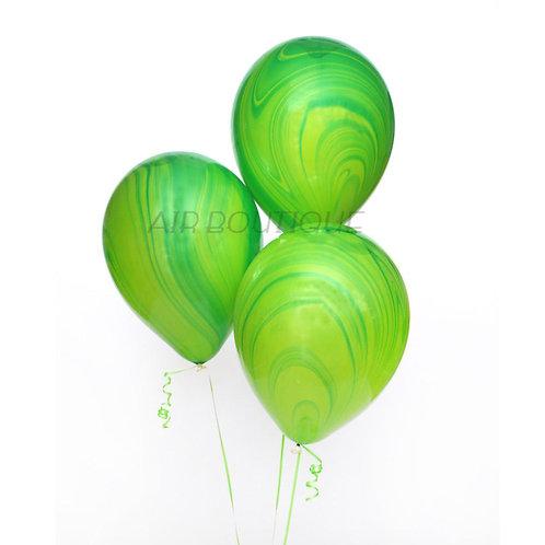 Воздушные шары-агат (зеленые)